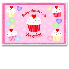 Valentine's Day Cupcake Personalized Placemat