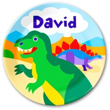Dinosaur Land Personalized Plate