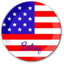 Flag Old Glory Personalized Kids Plate