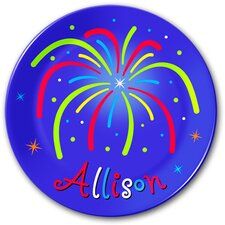Fireworks Kids Personalized Plate
