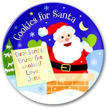 <strong>Olive Kids</strong> Cookies for Santa Personalized Kids Plate