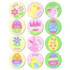 Personalized Girls Easter Stickers (Set of 60)