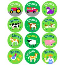 Country Farm Personalized Stickers (Set of 60)
