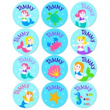Mermaid Personalized Stickers (Set of 60)