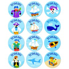 Pirates Personalized Stickers (Set of 60)