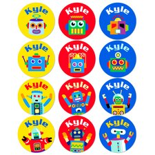 Robots Personalized Stickers (Set of 60)