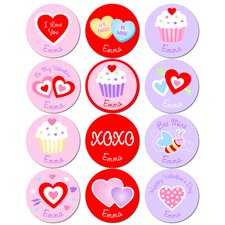 Valentine's Day Personalized Stickers (Set of 60)