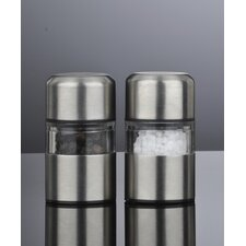 Mini Mill Stainless Steel Salt and Pepper Mill Set