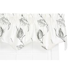 "Astonish Embroidered Leaf Lined Duchess Filler 50"" Curtain Valance"