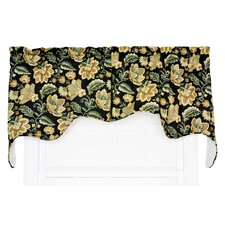 "Valerie 2 Piece Jacobean Empress Lined Swag 70"" Curtain Valance Set"