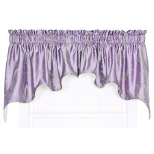 """Astonish 2 Piece Embroidered Leaf Lined Duchess 100"""" Curtain Valance Set"""