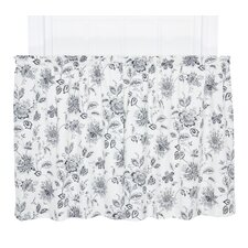 Winston Floral Print Tailored Tier Curtain (Set of 2)
