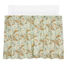 Valerie Jacobean Floral Print Tailored Tier Curtain (Set of 2)