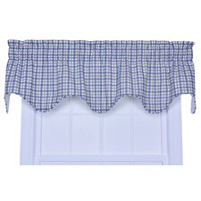 <strong>Ellis Curtain</strong> Bristol Cotton Two-Tone Plaid Lined Valance