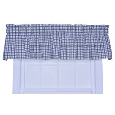 <strong>Ellis Curtain</strong> Bristol Cotton Two-Tone Plaid Valance Window Curtain