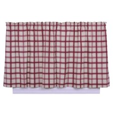 Logan Cotton Rod Pocket Large Scale Plaid Tailored Tier Curtain
