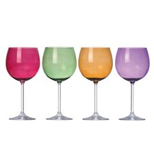 Tuscany Classics Harvest Balloons Wine Glasses (Set of 4)
