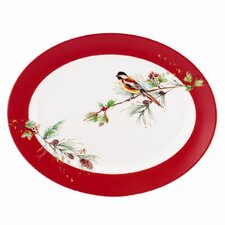 "Winter Song 16"" Oval Platter"