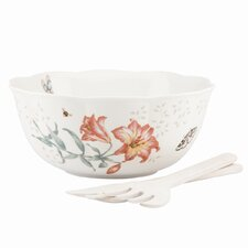 Lenox Butterfly Meadow Salad Bowl & Servers
