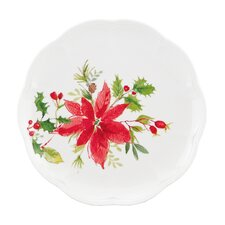 Winter Meadow Poinsettia Accent Plate