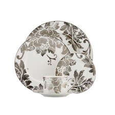 Silver Applique Dinnerware Set