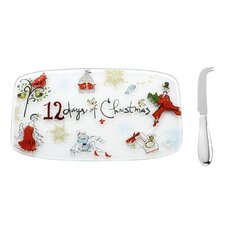 12 Days of Xmas Cheese Board with Spreader