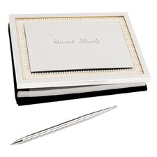 Jubilee Pearl Guestbook with Pen