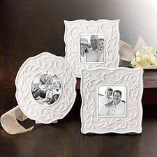 Opal Innocence Carved Small Picture Frame (Set of 3)