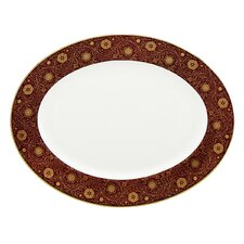 "Floral Majesty 13"" Oval Platter"
