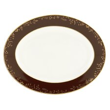 "Golden Bough 13"" Oval Platter"