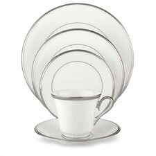 Solitaire White 5 Piece Place Setting