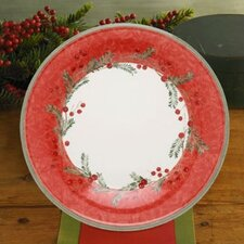 "Holiday Wreath 11.25"" Dinner Plate"
