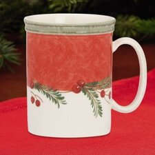 Holiday Wreath 14 oz. Mug