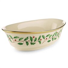 "Lenox Holiday 10"" Open Vegetable Bowl"