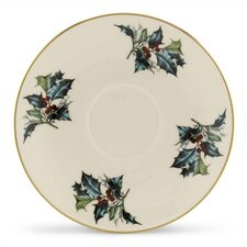 "Winter Greetings 6"" Saucer"