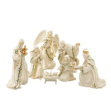 7 Piece Holiday Miniature Nativity Figurine Set