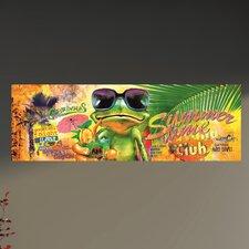 Glasbild Summertime Frog - 33 x 95 cm