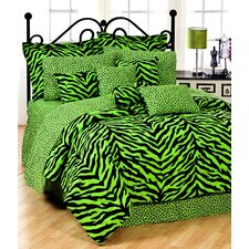 Lime Zebra Bedding Collection