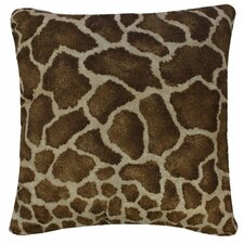 Giraffe Synthetic Square Pillow