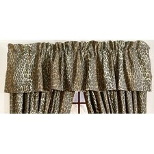 "Leopard Rod Pocket Tailored 88"" Curtain Valance"