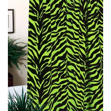 Zebra Cotton Blend Shower Curtain