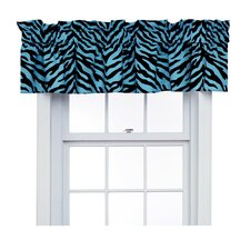 Zebra Cotton Blend Curtain Valance