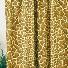 Giraffe Cotton / Polyester Shower Curtain