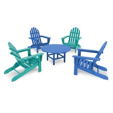 Classic Folding  5 Piece Adirondack Seating Group