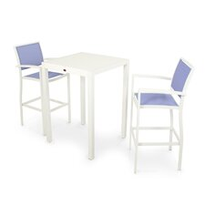 <strong>POLYWOOD®</strong> Bayline™ 3 Piece Bar Dining Set