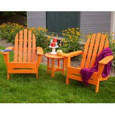 Classic Folding 3 Piece Adirondack Seating Group