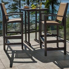 Coastal 3 Piece Bar Dining Set