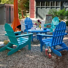 Classic Folding Conversation 5 Piece Adirondack Seating Group