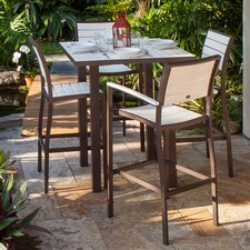 <strong>POLYWOOD®</strong> Euro 5 Piece Bar Dining Set