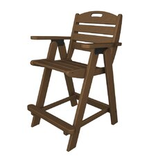 "<strong>POLYWOOD®</strong> Nautical 24.5"" Barstool"